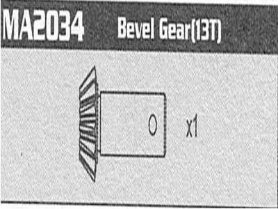 MA2034 Bevel Gear (13T) Raptor
