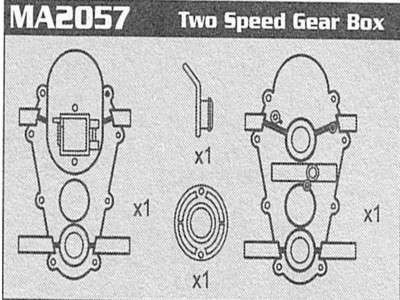 MA2057 Two Speed Gear Box Raptor