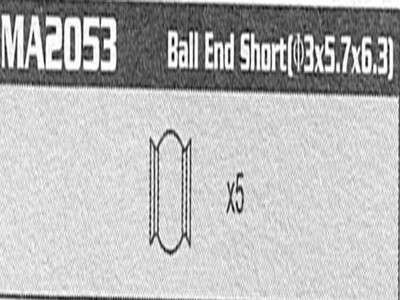 MA2053 Ball end Short Raptor