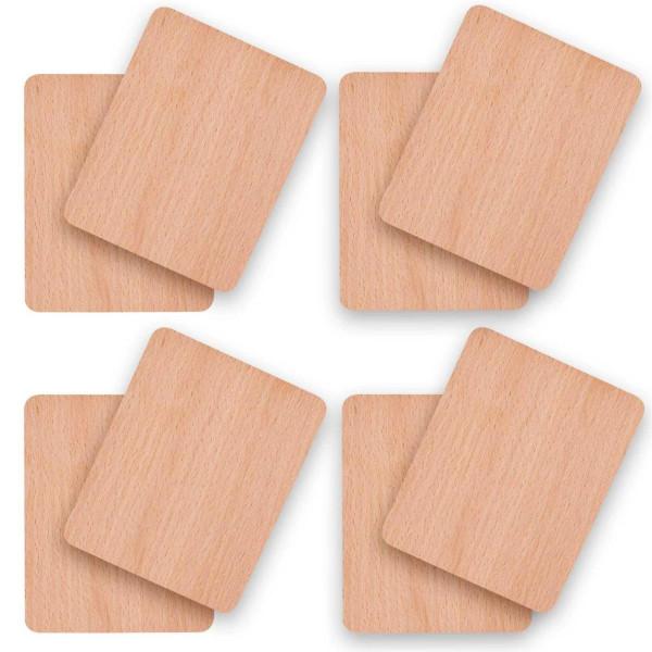 Holz Untersetzer für Raclette Pfännchen