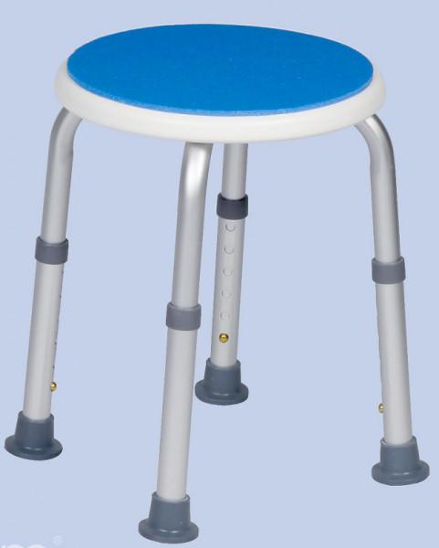 Blue Seat Duschhocker Höhenverstellbar rund