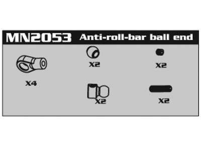 MN2053 Anti-Roll-Bar Kugelkopf Set