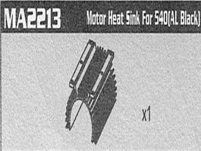 MA2213 Motor heat sink for 540 AM10T Extreme