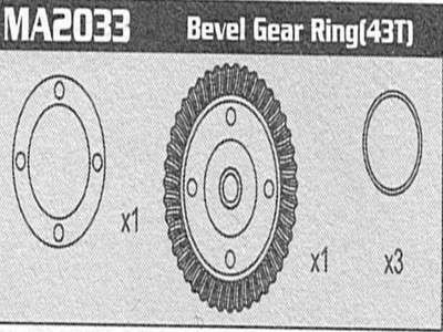 MA2033 Bevel Gear Set Raptor