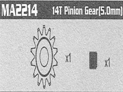 MA2214 14T pinion Gear( 5.0mm) Raptor (Getrieberitzel)