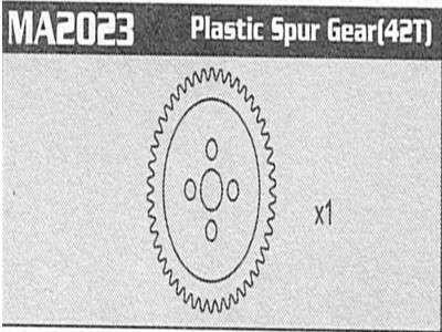 MA2023 Plastic Spur Gear(42T) Raptor