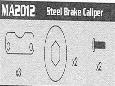 MA2012 Steel Brake Caliper Raptor