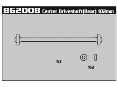 BG2008 Center Driveshaft (Rear) 102mm