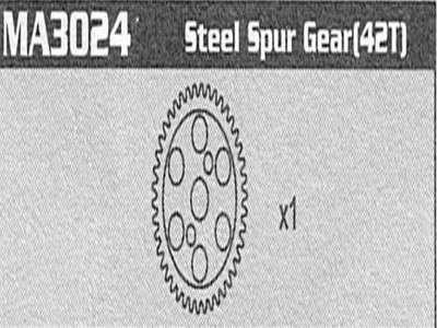 MA3024 Steel Spur Gear (42T) Raptor